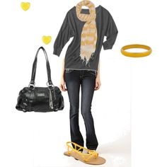 Love the yellow with the grey