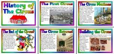 Free Printable History of the Circus set of posters for classroom display and bulletin boards.