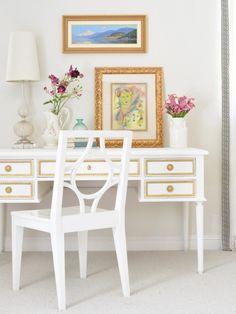 A Blue Bureau + My Favorite Paints for Furniture | Centsational Style