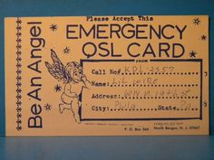 Radio Call QSL Card KDL-2557 Philadelphia PA Be an Angel | eBay