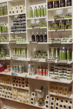 Our delectable Olive Oil based Beauty Product range Cosmetic Shop, Cosmetic Design, Home Hair Salons, Pharmacy Design, Store Layout, Beauty Supply Store, Oil Shop, Retail Store Design, Store Fixtures