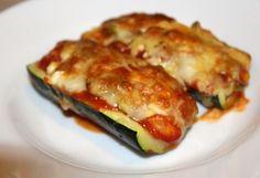 Gevulde courgette met feta Ricotta, Feta, Mozzarella, Pork, Low Carb, Yummy Food, Lunch, Vegetables, Profile