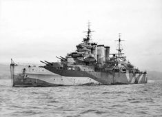 HMS Sussex, one of the London sub-class of the County-class heavy cruisers of the Royal Navy. She is anchor in the Clyde, September 18, 1940.