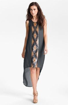 Haute Hippie Embellished Panel High/Low Dress