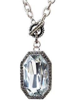 Silver Octagon Pendant Necklace on HauteLook