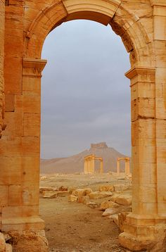 Palmyra, Syria ~ UNESCO World Heritage Site. Kim and I walked to the top of that mountain (hill) with no water....