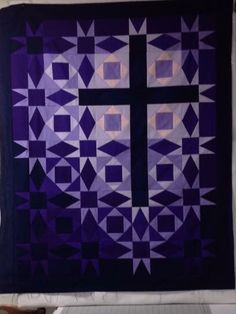 A lovely cross and star quilt