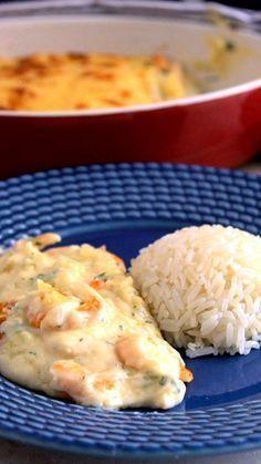 Surpreenda a todos fazendo essa receita maravilhosa de camarão gratinado. Fish Recipes, Seafood Recipes, Chicken Recipes, Cooking Recipes, Cooking Games, Cooking Beef, Cooking Classes, Cooking Eggs, Cooking Broccoli