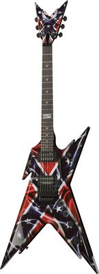 Dean Guitars Razorback Rebel, electric guitar, signature model, mahogany body, set v-shape mahogany neck, rosewood fingerboard