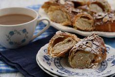 girlichef: Banketstaaf (Dutch Christmas Log) -- like an almond croissant.  Yummmm!