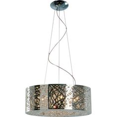 Featuring a steel laser-cut shade and inner beaded accents, this eye-catching pendant adds distinctive style to your den or entryway.