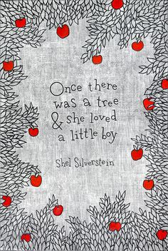 quote from Shel Silverstein's The Giving Tree - art print for a kid's bedroom