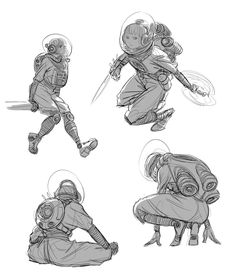 More sketchy sketches. I'm finding that I really like sketchy drawings, like in Dorohedoro.