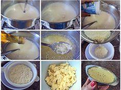Ricota Caseira - ferver 1 litro de leite, add 1 pote de iogurte natural e vinagre de maça ate começar a separar o soro