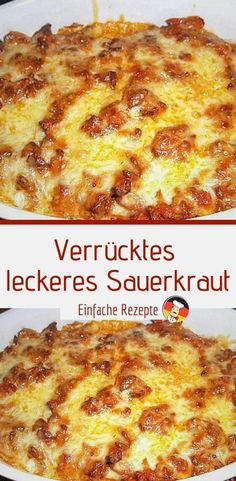 Crazy delicious sauerkraut- Ingredients: 500 g minced meat 1 can / s sauerkraut 2 onion (s) 1 tube / s tomato paste 2 glasses of sour cream 250 g cheese, grated - Classic Lasagna Recipe Easy, Easy Lasagna Recipe With Ricotta, Best Lasagna Recipe, Ground Beef Lasagna Recipe, Cottage Cheese Lasagna Recipe, Easy Healthy Recipes, Easy Meals, Sausage Lasagna, Fat Burning Detox Drinks