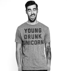 Young Drunk Unicorn Mens Tee Grey – Buy Me Brunch #fathers #day