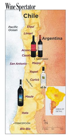 Chilean wines from these locations