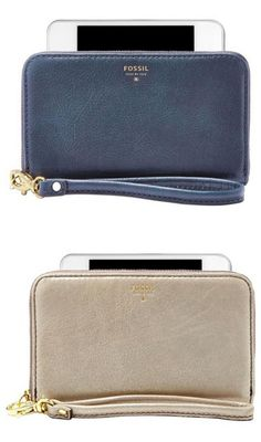 Need a stylish way to carry your phone and maybe a card or two? We're drooling over the new smartphone wristlet from Fossil. Isn't it pretty? (Answer: Yes.)
