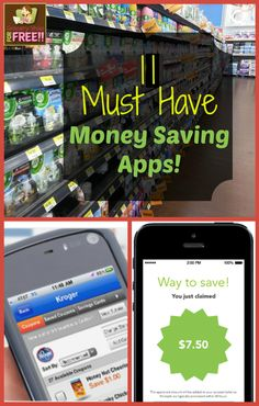 11 Must Have Money Saving Apps - The only one I have used yet is Walmart's Savings Catcher, and it does work. Pinning this to check them out later.
