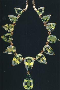Demantoid Garnet necklace.  http://www.deleusejewelers.com