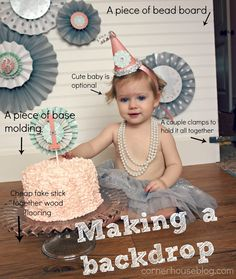 Cute DIY Cake Smash Tutorial - all the steps to make it happen! So cute!