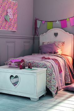 Liberty Lilac - Girls Bedroom Ideas - Furniture, Wallpaper, Accessories (houseandgarden.co.uk) Wall Color