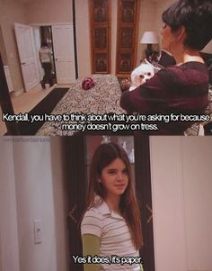 This is my favorite quote of all five billion keeping up with the kardashians and all the spin offs. gotta love kendall