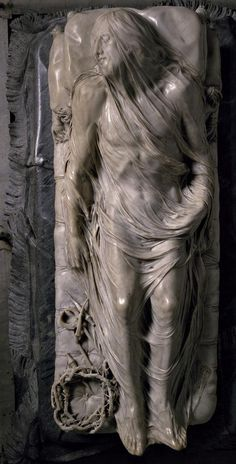 Dead Christ Lying in the Shroud, by Giuseppe Sanmartino. Marble, 1753. The effect of a thin veil draped over a body, all carved from marble, just fascinates me. I can't imagine the skill.
