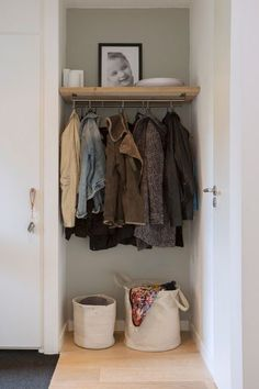 If decluttering and organizing is on your New Year's resolutions list 👉 you might start visualizing your 🤩 goal by saving photos of your favorite organized spaces to a 💡 Houzz ideabook. New Years Resolution List, Entry Closet, Modern Entry, Diy Organization, Organizing, Houzz, Wardrobe Rack, Living Spaces, Sweet Home