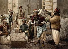 'Stonemasons At Work In Jerusalem' c1890-1900 - A4 Glossy Print Taken From A Wonderful Old Photocrom Image by Unknown http://www.amazon.co.uk/dp/B00O3Q1128/ref=cm_sw_r_pi_dp_6zinvb1SY3NY3