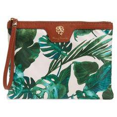 Women's Tommy Bahama Siesta Key Wet Bikini Bag ($38) ❤ liked on Polyvore featuring bags, jade leaf, green bag, tommy bahama, leaf bags, tommy bahama bag and beach bag