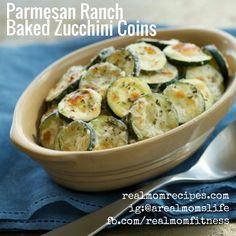 Parmesan-Ranch Baked Zucchini Coins - INGREDIENTS ¼ cup Parmesan cheese grated 2 cups zucchini washed unpeeled ⅓ cup Hidden Valley® The Original Ranch® Light Dressing Healthy Snacks, Healthy Eating, Healthy Recipes, Easy Recipes, Vegetarian Recipes, Healthy Sides, Keto Snacks, Potato Recipes, Keto Recipes