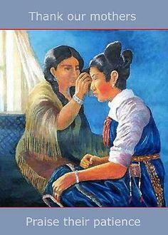 Mother's Love Native American Card by Artist Naquaiya