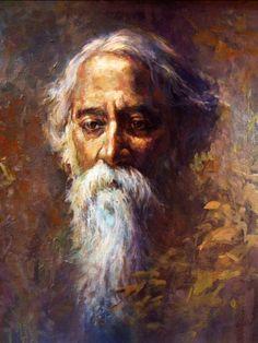 Portrait Of Nobel Laureate Rabindranath Tagore - Art Prints by Tallenge Store Potrait Painting, Portrait Art, Portraits, Art Drawings For Kids, Cartoon Girl Drawing, Magazine Art, Art Auction, Medium Art, Indian Art