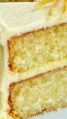Lemon Velvet Cake ~ perfectly moist and tender crumbed cake with a lemony buttercream frosting.