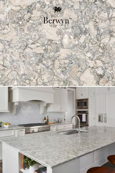 A striking maintenance-free alternative to granite countertops Cambria Berywn Kitchen Redo, Home Decor Kitchen, Home Kitchens, Kitchen Dining, Kitchen Remodel, Kitchen Island, Kitchen Ideas, Br House, Donia