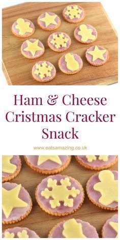 Easy Christmas themed snack - these make a great quick and fun snack for kids or cute Christmas party food - Eats Amazing UK snacks, Ham & Cheese Christmas Crackers Christmas Buffet, Christmas Party Food, Christmas Crackers, Xmas Food, Christmas Appetizers, Christmas Cooking, Appetizers For Party, Christmas Desserts, Christmas Lunch Ideas