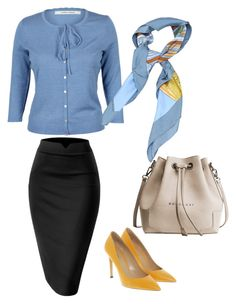 """Hydrangea Flavour"" by dborotea on Polyvore featuring Hermès and Bally"