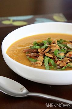 Vegan spicy pumpkin soup with lemongrass and coconut milk