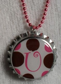 Bottle Cap Necklace... Already ordered supplies for this project!