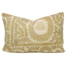 Vintage Neutral Suzani Pillow on Chairish.com