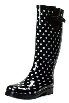 Rain Boots Rubber Women New Size Snow Wellies Polka Dot Plaid Leopard Zebra Knee High Flat Black Beige Red Pink White Dots S Styles Rainboots Boot Sizes (5, Black Dot) Own Shoe http://www.amazon.com/dp/B00IHTLOXS/ref=cm_sw_r_pi_dp_H.ucwb079E5E5