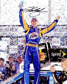 2010 Kurt Busch Miller Atlanta Win 8X10 SIGNED by Trackside Autographs. $31.95. This is an AUTOGRAPHED 2010 Kurt Busch #2 Miller Lite Racing / Penske Racing / Atlanta Winner Victory Lane glossy 8X10 photo. This picture was SIGNED by Kurt Busch through a well-respected member of Global Authentication.
