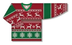 Athletic Knit UCS728C Ugly Christmas Sweater Hockey Jersey