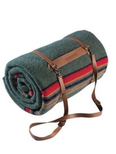 Wool blanket & leather carry straps by Pendleton.