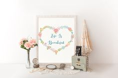 Life Is Beautiful Printable art Download por HappyLifePrintables