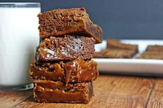 Fat Witch Bakery's Legendary Chocolate Caramel Brownies – Dinner, then Dessert – Tailgating food Cookie Desserts, Just Desserts, Delicious Desserts, Yummy Food, Brownie Recipes, Cookie Recipes, Dessert Recipes, Bar Recipes, Chocolate Caramel Brownies
