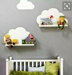 prateleira nuvem mdf cru, decoração infantil bebe nicho