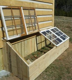Small Greenhouse Made From Old Antique Windows Might have to make a greenhouse box like this to keep the deer out! We called this a 'cold frame'. The post Small Greenhouse Made From Old Antique Windows appeared first on Garden Diy. Antique Windows, Vintage Windows, Outdoor Projects, Wood Projects, Outdoor Ideas, Craft Projects, Outdoor Toys, Spring Projects, Dream Garden