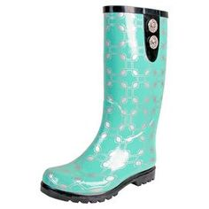 Look at this Green Chain Puddles II Rain Boot by Nomad Footwear Green Rain Boots, Cute Rain Boots, Rubber Rain Boots, Women's Shoes, Rain Shoes, Shoe Boots, Footwear Shoes, Pretty Shoes, Cute Shoes